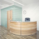 Office Entrance Area interior with reception counter